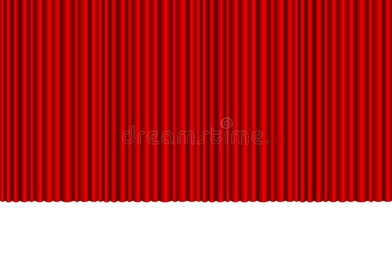 Un ejemplo hermoso de la cortina stock de ilustración