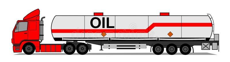 Remolque del tanque stock de ilustración
