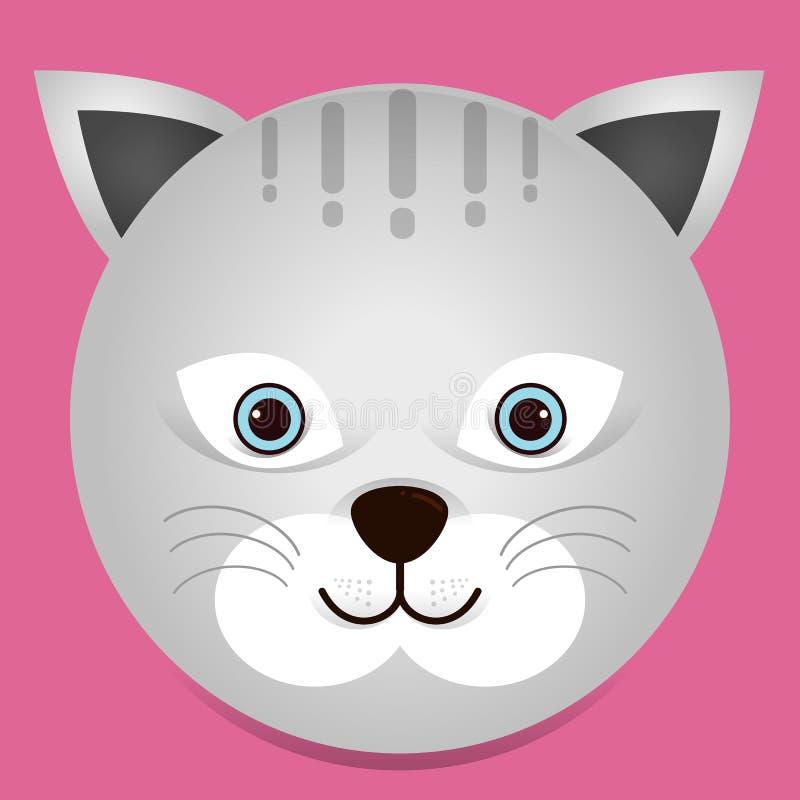 Un ejemplo lindo del gato ilustración del vector