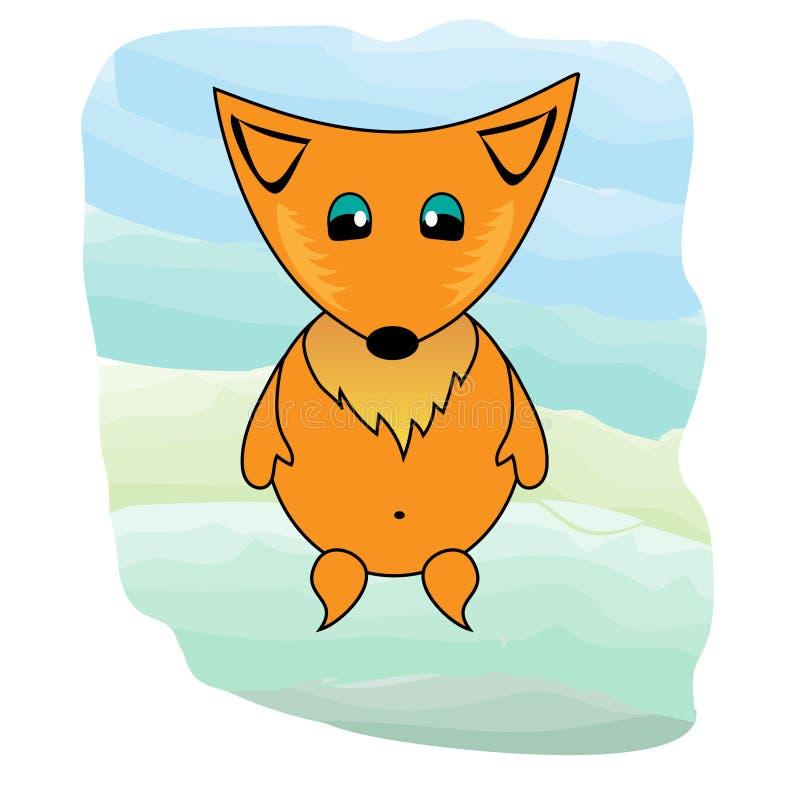 Un ejemplo lindo inusual del zorro libre illustration