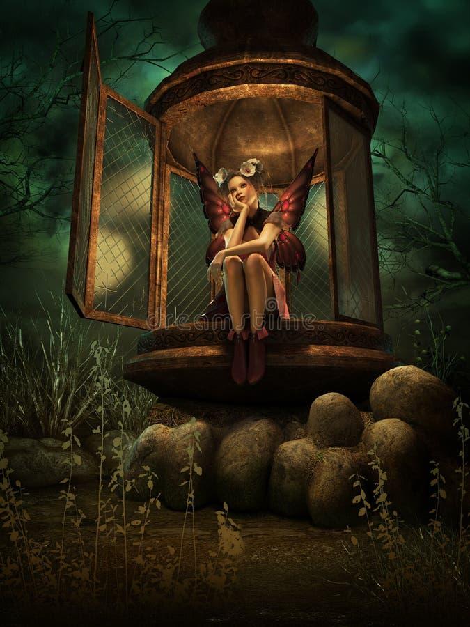 Un endroit secret d'Elven, 3d CG. illustration stock