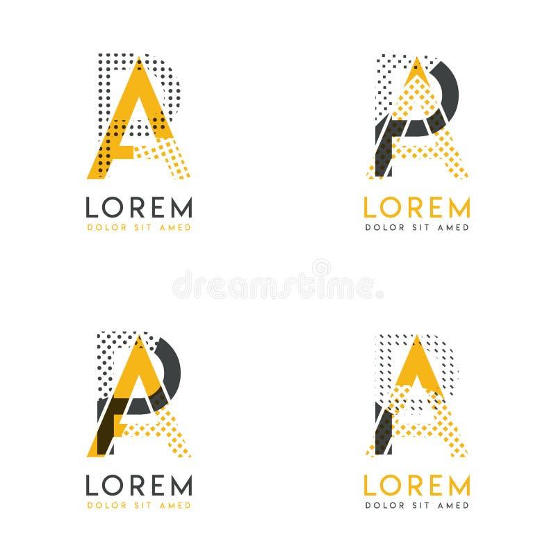 Un ensemble avec le logo abstrait de quatre AP Approprié aux sites Web et à l'identité d'entreprise, et peut être employé pour la illustration stock