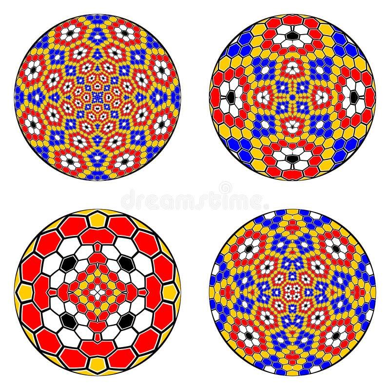 Un ensemble d'éléments de cercle de conception illustration de vecteur