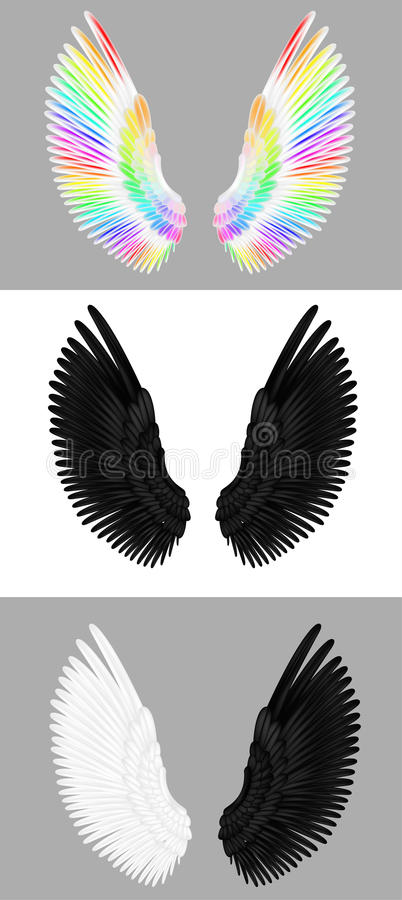 Un ensemble d'ailes d'ange illustration stock