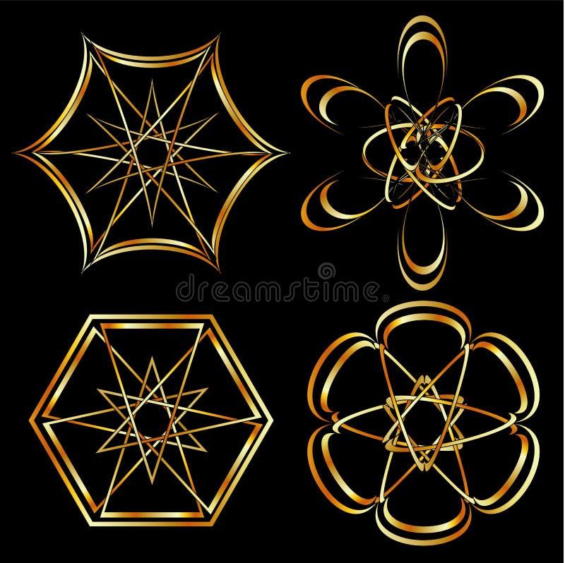 Un ensemble d'art floral celtique de décoration ou de tatouage illustration libre de droits