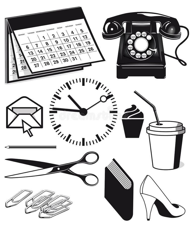 fournitures de bureau et graphiques illustration de vecteur illustration du approvisionnements. Black Bedroom Furniture Sets. Home Design Ideas