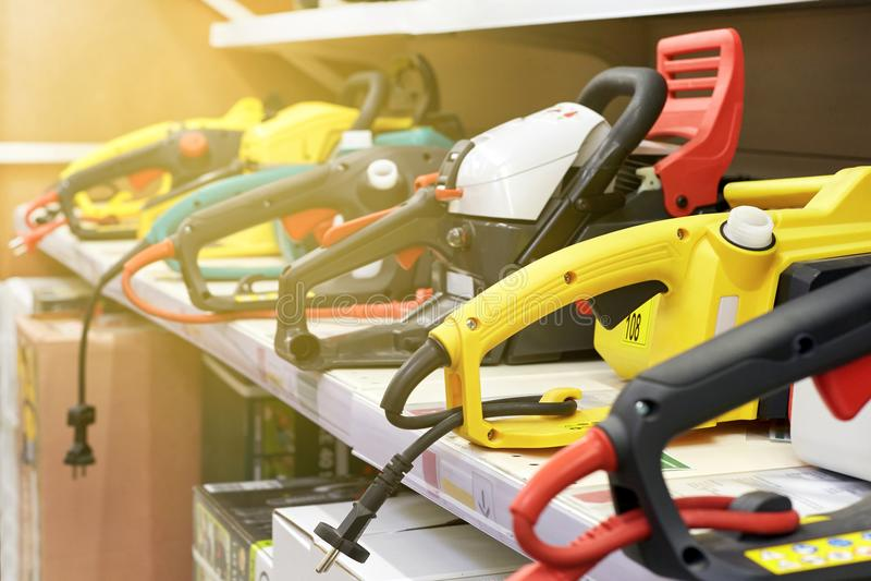 Un ensemble d'outils électriques photo libre de droits