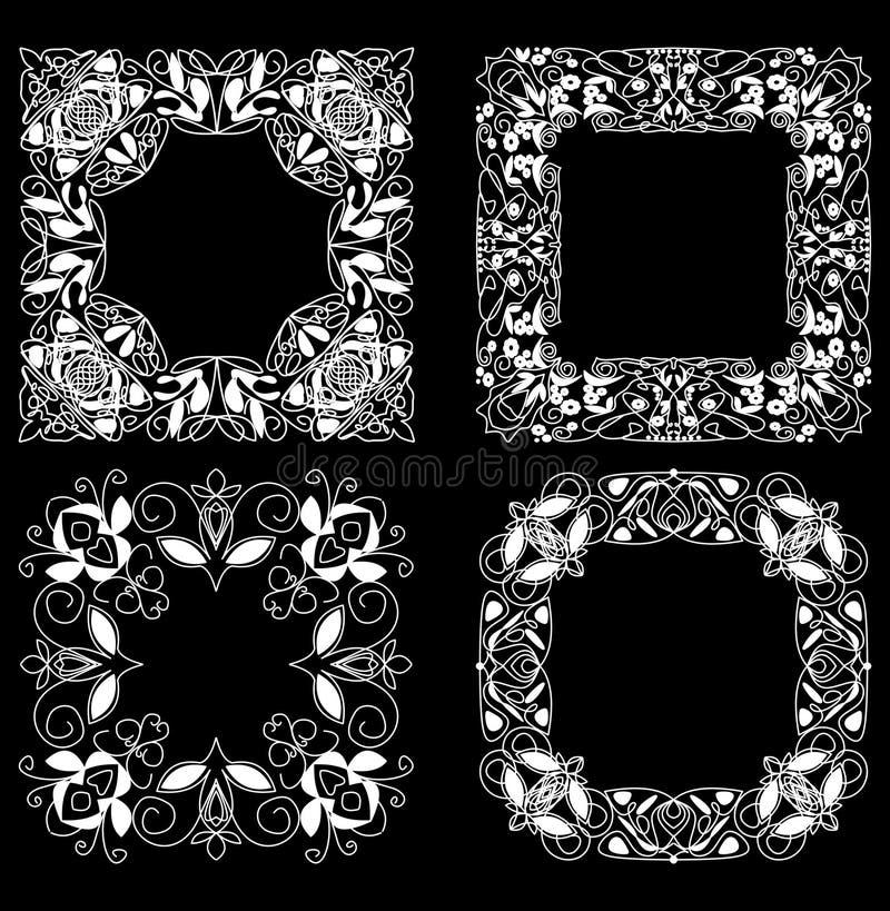 un ensemble de cadres de place de dentelle dans le style d. Black Bedroom Furniture Sets. Home Design Ideas