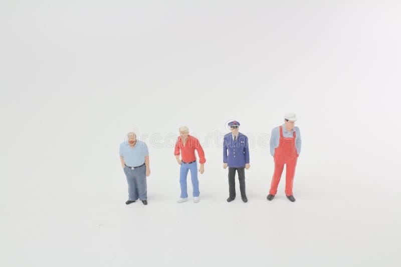 Un ensemble de concept d'équipe d'affaires de personnes différentes image stock