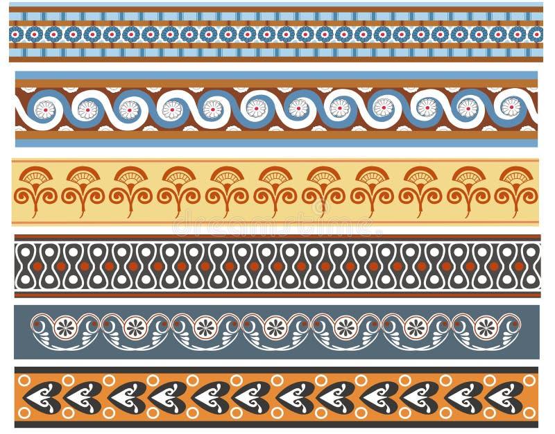 Un ensemble de conceptions minoan antiques de sabot illustration de vecteur