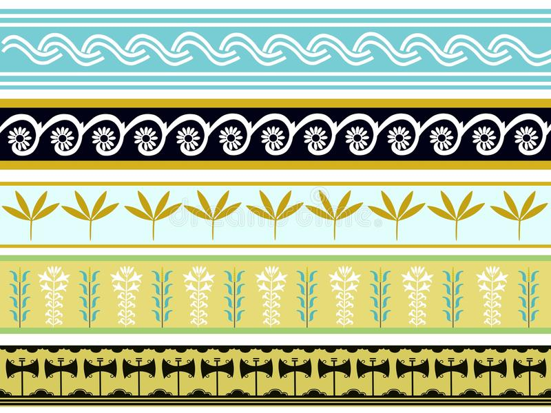 Un ensemble de conceptions minoan antiques 2 de sabot illustration de vecteur
