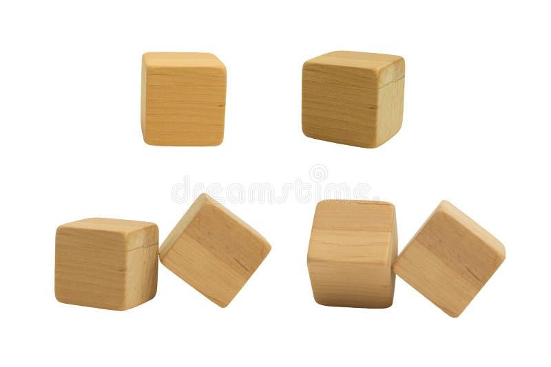 Un ensemble de cubes en bois image libre de droits