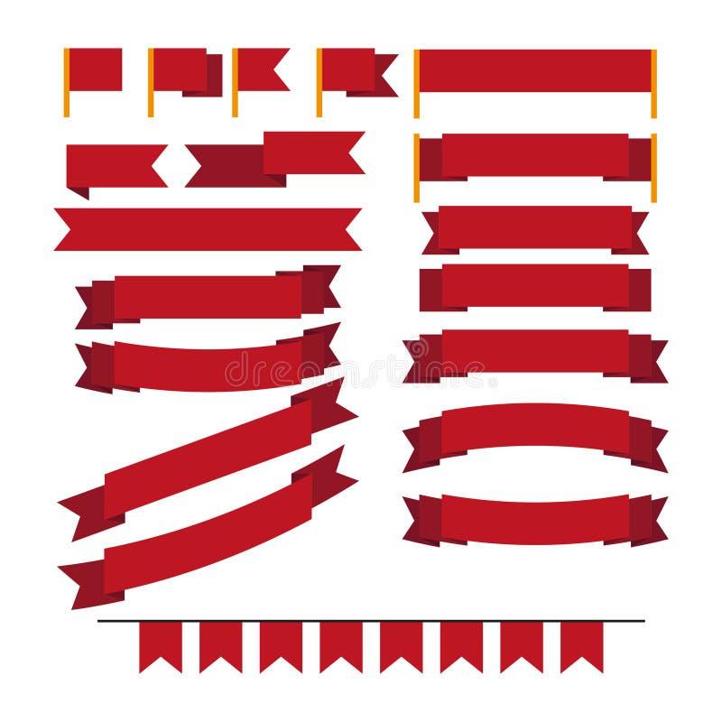 Un ensemble de drapeaux illustration libre de droits
