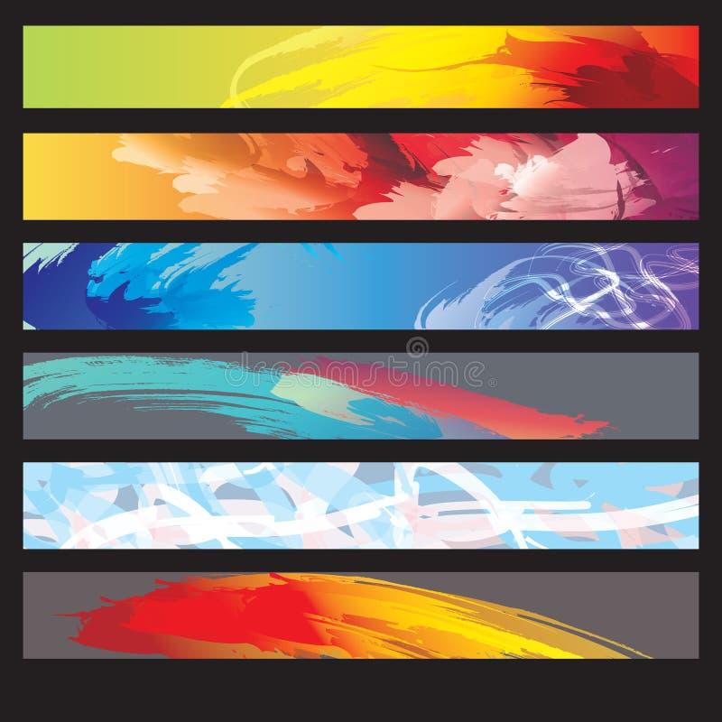 Un ensemble de drapeaux de Web illustration libre de droits