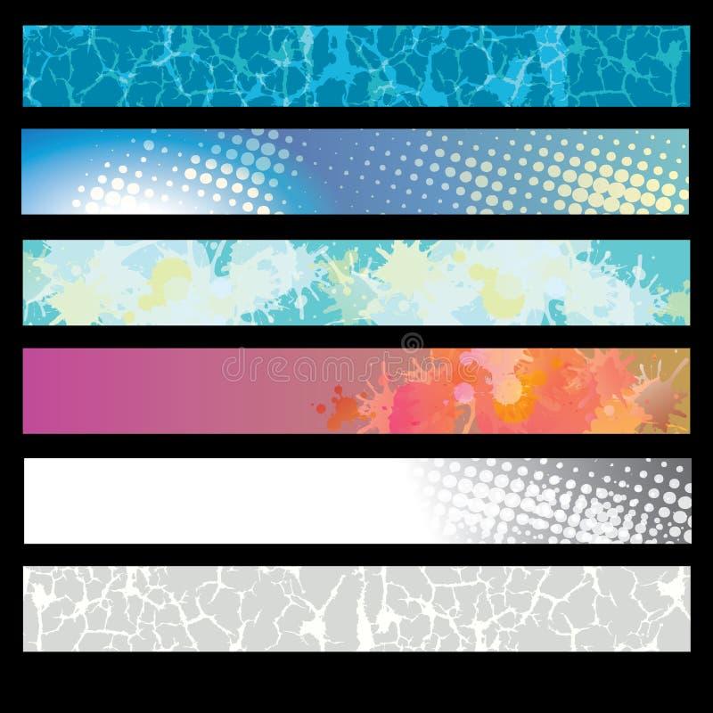 Un ensemble de drapeaux de Web illustration de vecteur