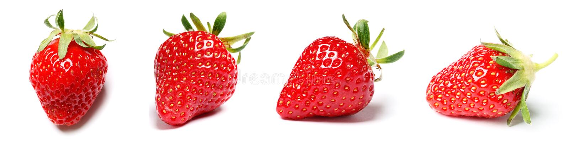 Un ensemble de fraise fra?che d'isolement sur le fond blanc photographie stock libre de droits