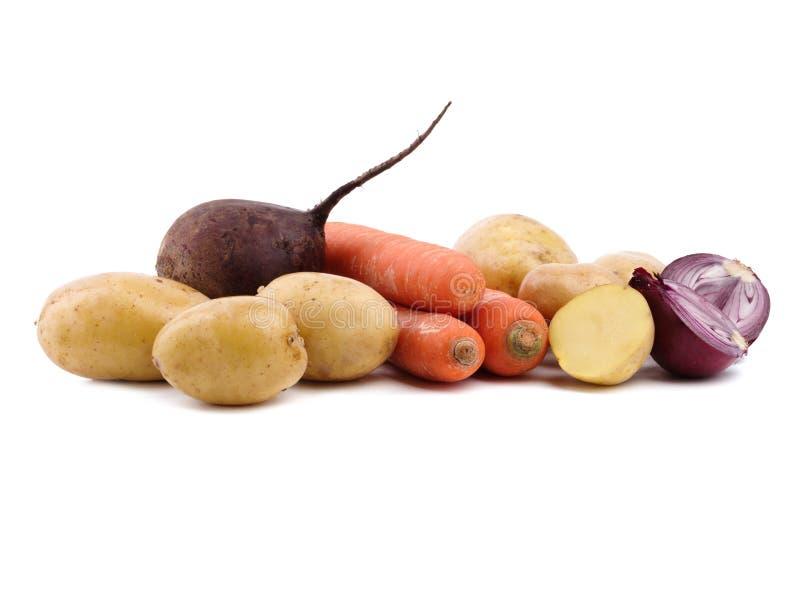 Un ensemble de légumes de jardin images libres de droits