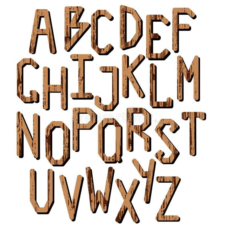 Un ensemble de lettres L'alphabet anglais illustration libre de droits