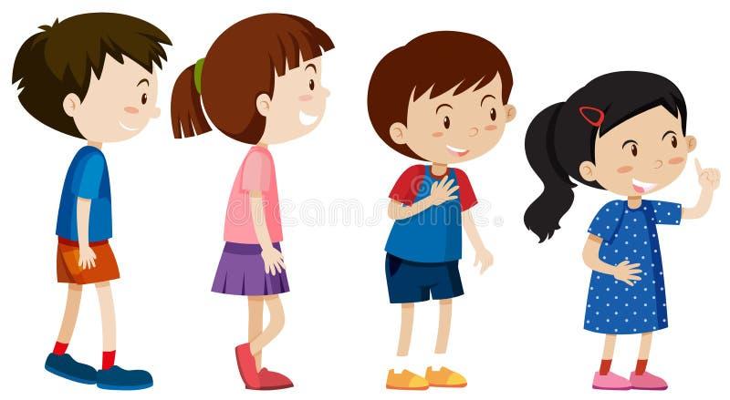 Un ensemble de ligne d'enfants illustration de vecteur