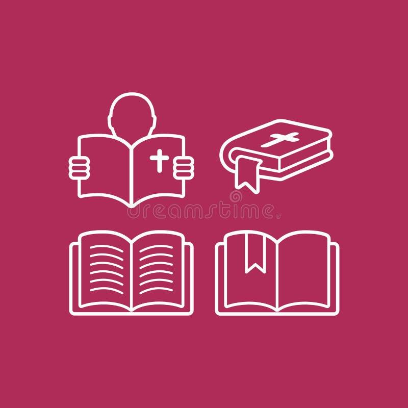 Un ensemble de logos des bibles et des livres illustration stock