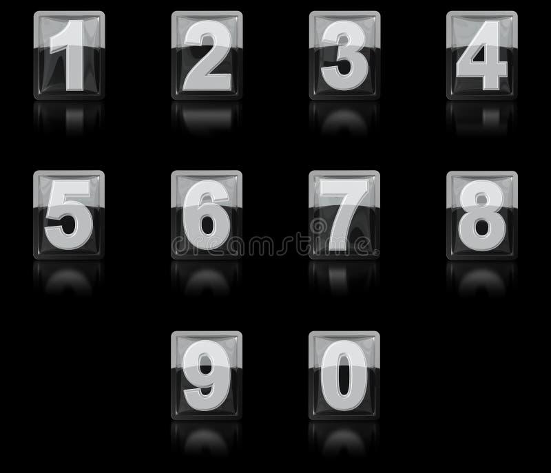 Download Un Ensemble De Nombres De L'icône 3D Illustration Stock - Illustration du numéros, ordinateur: 56476454