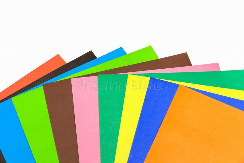 Un ensemble de papier coloré épais pour la couture image stock