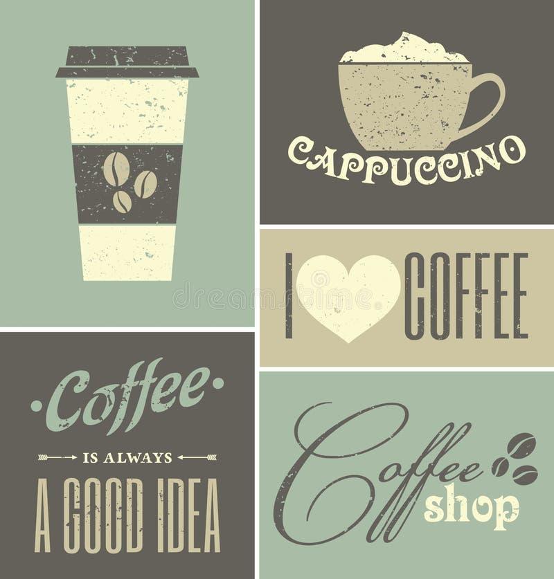 Collage de café de cru illustration libre de droits