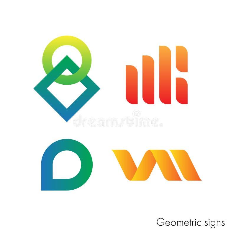 Un ensemble de signes géométriques pour votre logo illustration stock