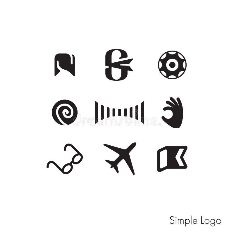 Un ensemble de signes simples pour votre logo illustration de vecteur