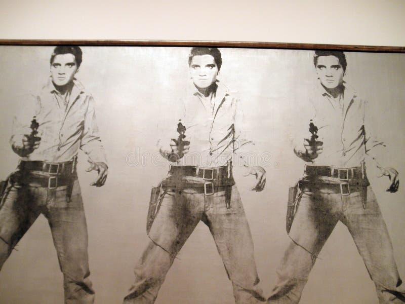 Un ensemble de six autoportraits, Andy Warhol photos libres de droits