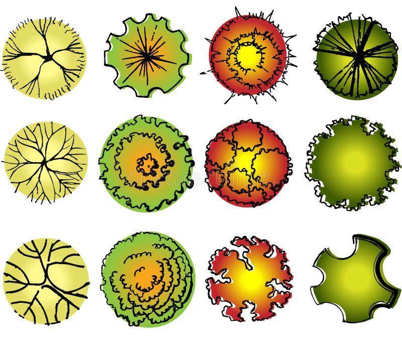 Download Un Ensemble De Symboles De Cime D'arbre Illustration Stock - Illustration du arbres, aménagement: 56481511