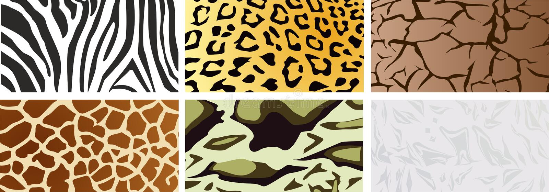 Un ensemble de textures naturelles illustration de vecteur