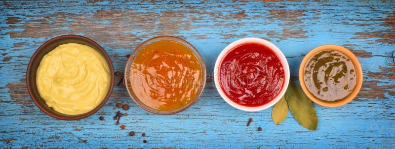 Un ensemble de textures de sauces images libres de droits