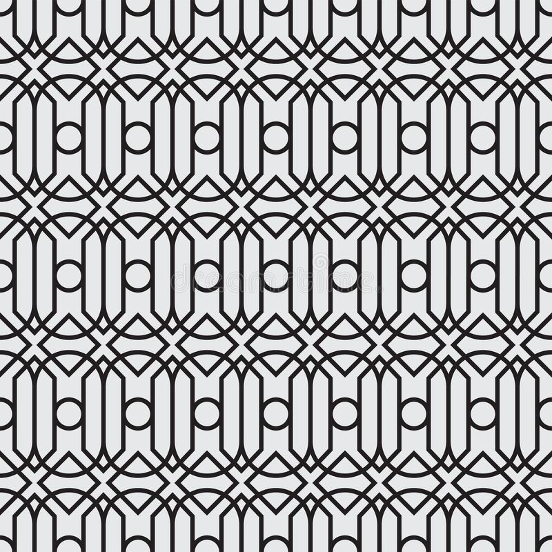 Un ensemble géométrique de sans couture noir et blanc Style de modèle sans couture de format de vecteur nouveau illustration stock