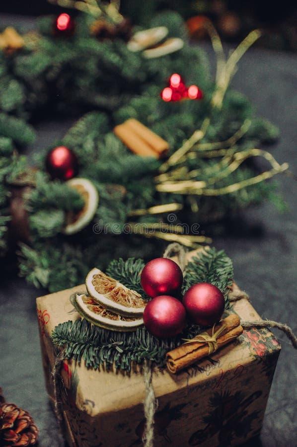 Un ensueño sobre tiempo de la Navidad fotografía de archivo