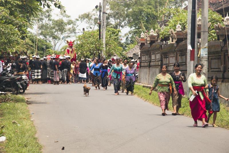 Un entierro en Bali, Indonesia fotos de archivo libres de regalías