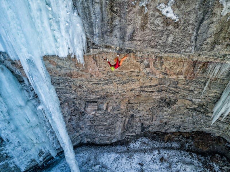 Un escalador experto en Vail, Colorado imágenes de archivo libres de regalías