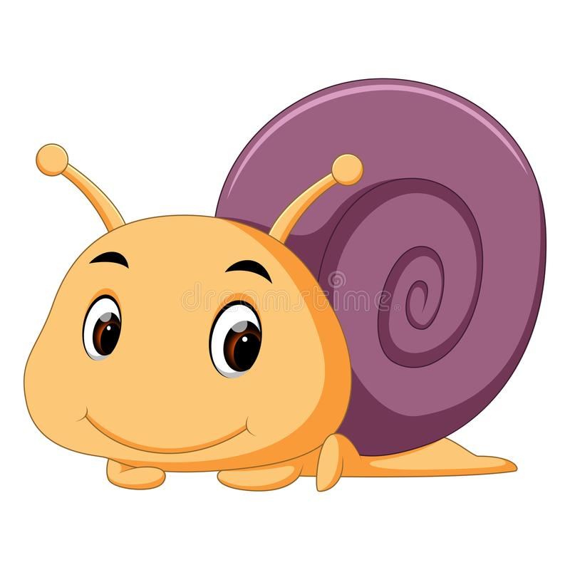 Un escargot comique illustration stock