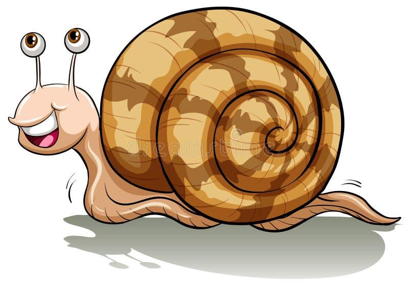 Un escargot lent illustration libre de droits