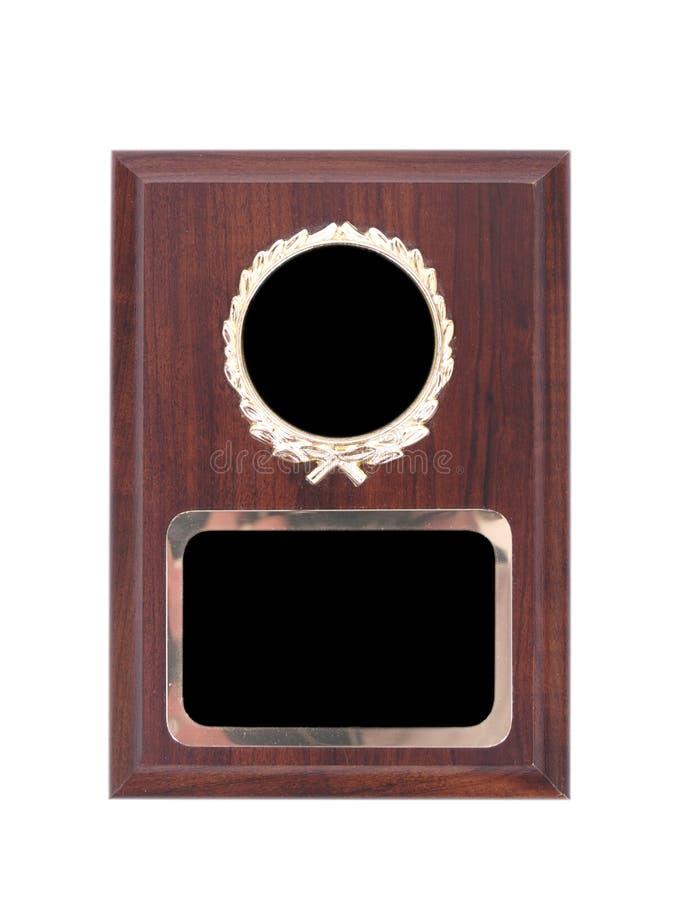Un espacio en blanco concede la placa imagenes de archivo
