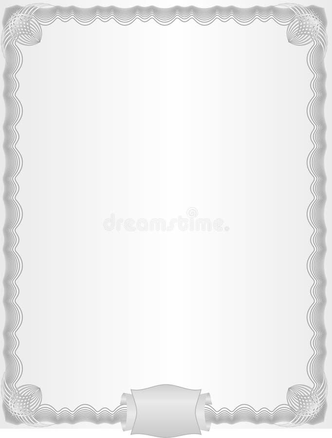 Un espacio en blanco del lujo ilustración del vector