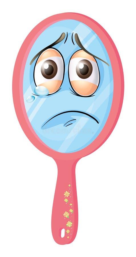 Un espejo con la cara libre illustration