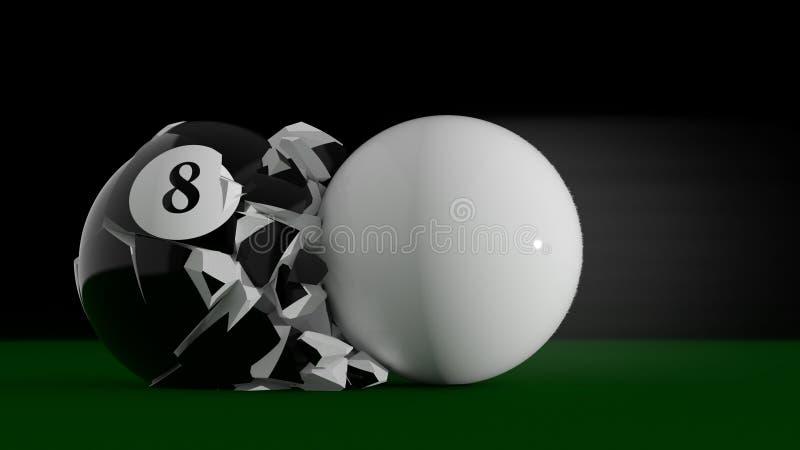 Un'esplosione di 8 palle illustrazione di stock