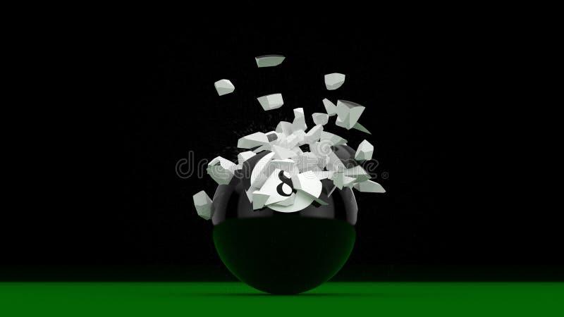 Un'esplosione di 8 palle royalty illustrazione gratis