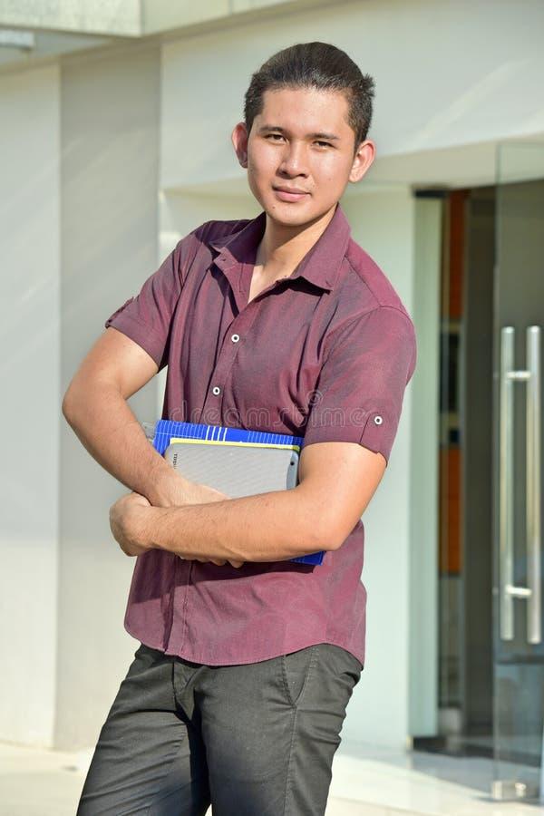 Un estudiante masculino muscular imagenes de archivo