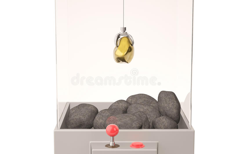 Download Un Or Et Pierres Dans La Machine De Grue De Jouet Illustration 3D Illustration Stock - Illustration du chance, saisie: 87704943
