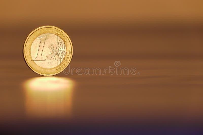 Un euro immagine stock libera da diritti