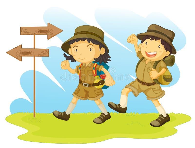 Un explorador de muchacho stock de ilustración