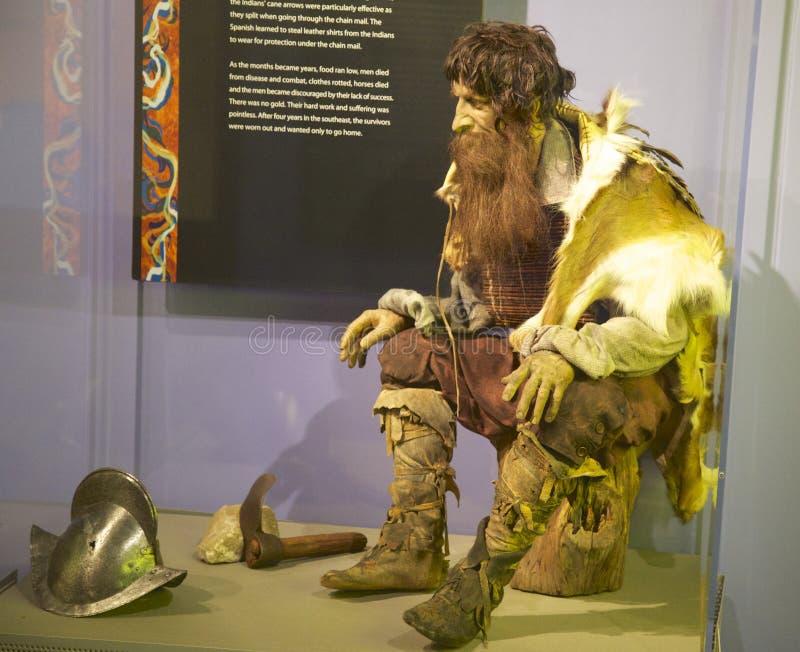 Un explorador Exhibit en el museo del río del Tunica fotografía de archivo libre de regalías