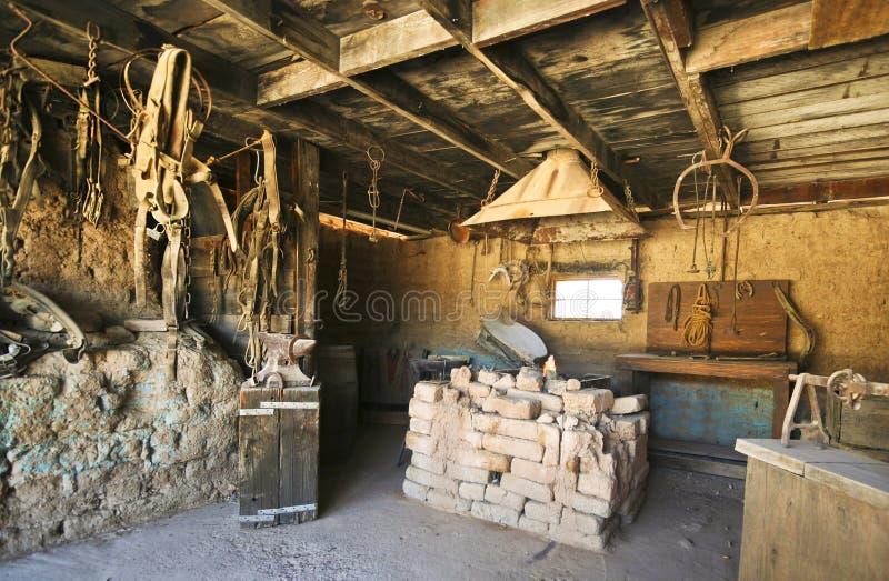 Un fabbro Shop di vecchio Tucson, Tucson, Arizona fotografia stock